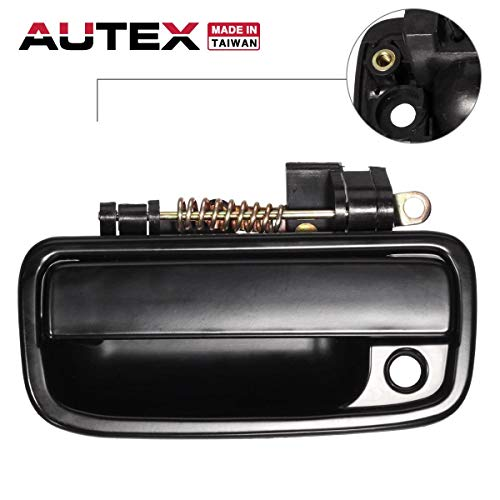 (AUTEX Exterior Front Left Door Handle Driver Side Compatible with 1995 1996 1997 1998 1999 2000 2001 2002 2003 2004 Toyota Tacoma 04 05 06 07 08 09 10 11)