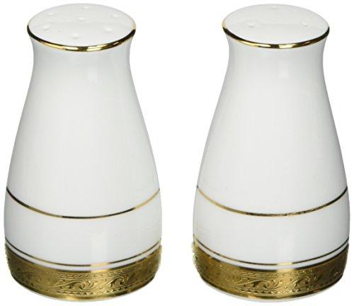 - Noritake Crestwood Gold Salt & Pepper Shakers