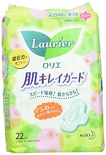 Kao Laurier Speed+ HADA-KIREI for Moderate Days WITH WINGS - 22 pads from Laurier
