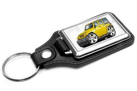 Jeep-Wrangler-4-Door-4x4-Leather-Key-Ring-NEW