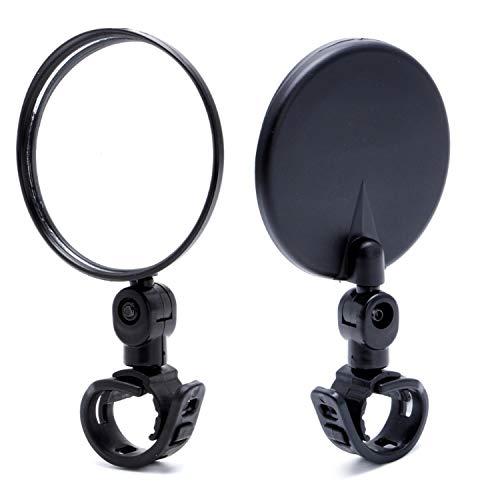 Newlight66 Bike Mirror, Adjustable 360 Rotatable Handlebar Glass Rearview Bicycle Mirrors for Road Mountain Bike (2 Pack)