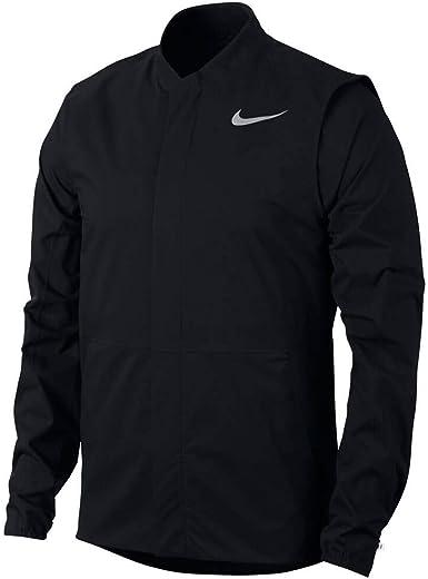 Adecuado Clasificación loseta  Amazon.com : Nike HyperShield HyperAdapt Golf Jacket 2019 Black/Flat Silver  XX-Large : Clothing