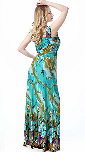 Plus 1x Style Party Blue Maxi 7x Women's Size Dress Beach Cocktail Summer Dress Oops TqXEdT
