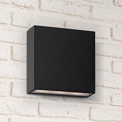 - Stanford Modern Outdoor Wall Light Fixture LED Black Aluminum 5 1/2