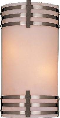 Minka Lavery 343-84, Wall Sconces Glass Wall Sconce Lighting, 1 Light, 100 Total Watts, Nickel