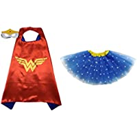 Superhero or Princess TUTU, CAPE, MASK SET COSTUME - Kids Childrens Halloween
