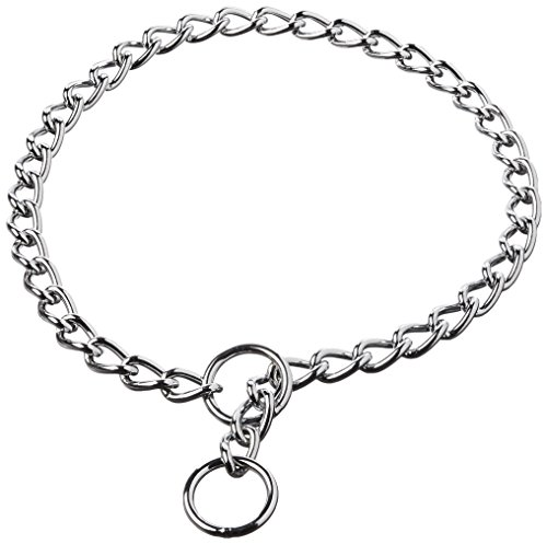 DCP554028 28-Inch Titan X-Heavy Chain Dog Training Choke/Collar with 4mm Link, Chrome ()