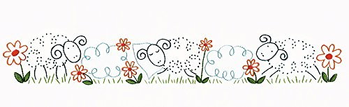 Embroidery Pillowcase Kits (Tobin Stamped Pillowcase Pair Embroidery Kit, 20-Inch by 30-Inch, Sheep)