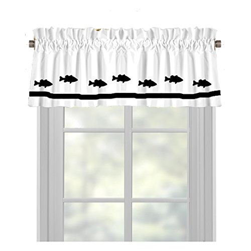 Bass (Largemouth Bass) Fish Window Valance / Window Treatment - In Your Choice of Colors - Custom Made (Fish Valance)