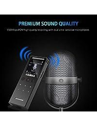 Grabadora de voz digital para conferencias   RoMech 16 GB sonido audio cinta grabadora dispositivo, 1536 kbps, dictáfono activado por voz, compatible con Mac, USB recargable (negro)