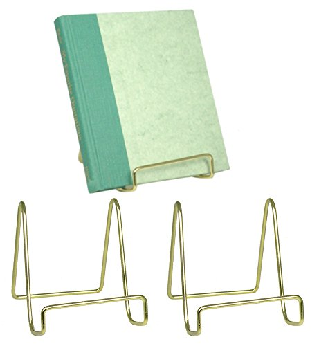 Wire Display Stand Plate Holders - Smooth Brass Inch 3