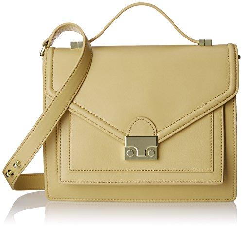 LOEFFLER RANDALL Natural Satchel Bag Gold Rider Medium 66qwrgzO