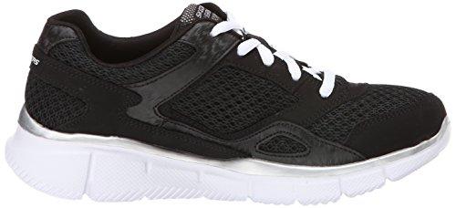 Skechers Equalizer - zapatilla deportiva de material sintético niño negro - Schwarz (BKW)