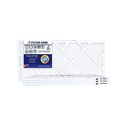Filter King 20x27x1 4 Pack, HVAC Pleated Air Filter, MERV 8 Filter Rating, Protection Against Inhalable Particles Such as Mold and Pollen, Allergen Reduction, Increases Air Quality by Filter King