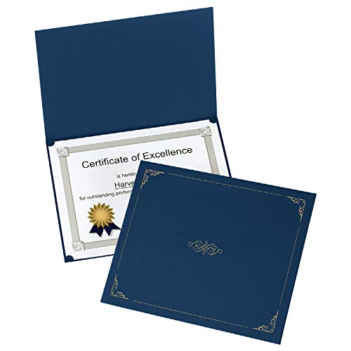 Oxford Certificate Holders, Dark Blue, Letter Size, 25 per Pack (299235)
