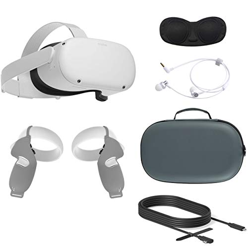 2020 Oculus Quest 2 All-in-One VR Headset, 256GB SSD, Glasses Compitble, 3D Audio, Mytrix Carrying Case, Earphone…