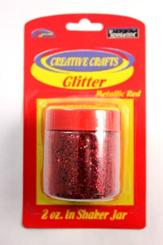 Glitter Shaker- Red 48 pcs sku# 1794954MA by DDI