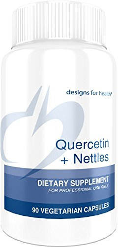 Designs for Health Quercetin and Nettles Capsules - 600mg Flavonoids, High in Natural Vitamin C and Iron (90 Capsules)