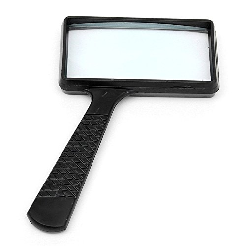 Portable Handheld 2.5X High Definition Rectangle Reading Magnifier Glass lens Loupe For Old People Reading Watch Repair Tool (People Style Watch)