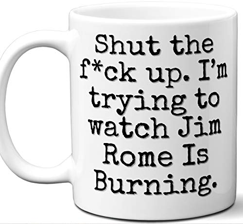 Jim Rome Is Burning Gift Mug. Funny Parody TV Show Lover Fan