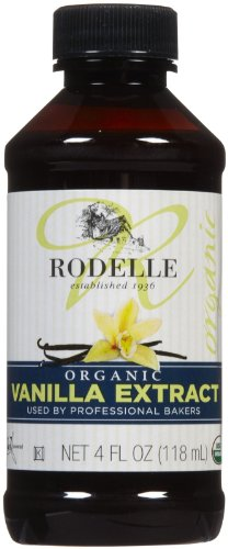Rodelle Organic Pure Vanilla Extract, 4-Ounce