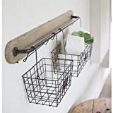 Hanging Wall Mount Wire Display Baskets