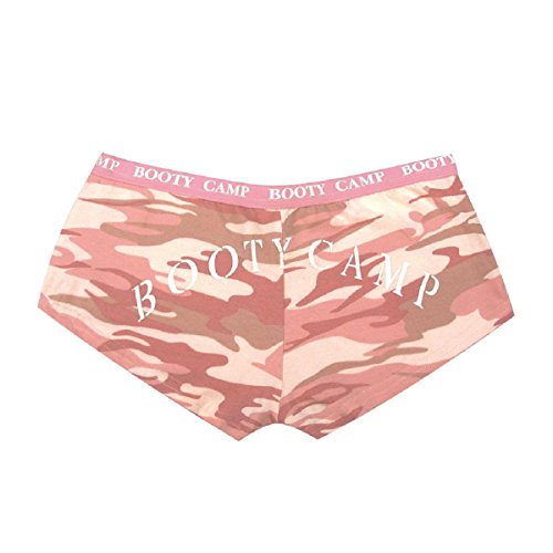 (Rothco Women's Booty Shorts/Booty Camp, Baby Pink/Camo, Small)