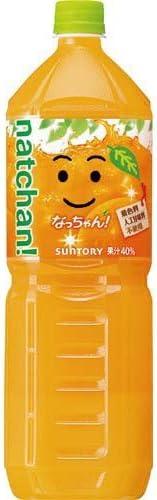 サントリーフーズ なっちゃんオレンジ 1.5L×4本