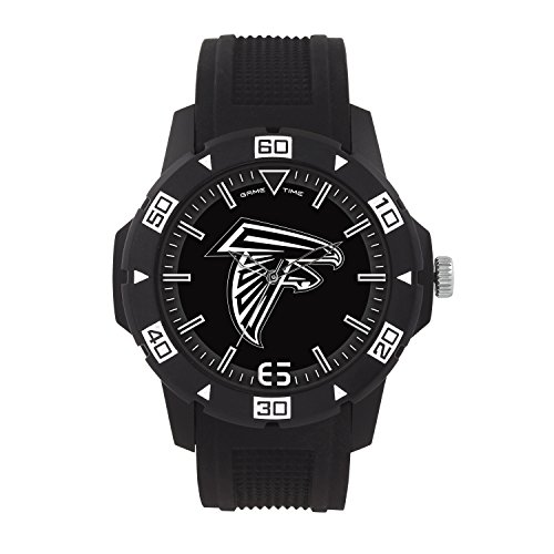 Watch Nfl Mens Sport (NFL Atlanta Falcons Mens Automatic Series Wrist Watch, Black, One Size)