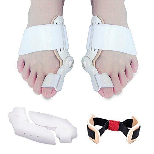 Bunion Corrector - Hinged Bunion Splint & Bunion Relief Protector Kit - Gel Toe Separators Spacers Straighteners Relieve Hallux Valgus,Tailors Bunion,Big Toe Joint,Hammer Toe
