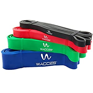 Wacces Resistance Bands Power Jump Stretch Cross Fit Lifting Bands for Body Building