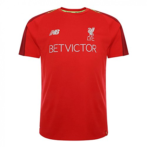 New Balance Men's Liverpool FC 2018-19 Shortsleeve Training Jersey (Racing Red) - Jersey Authentic Liverpool
