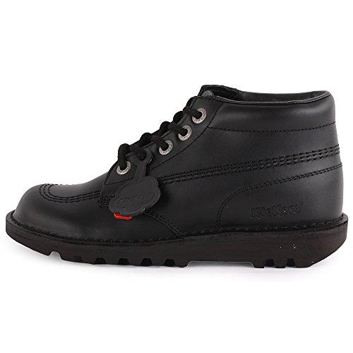 Kickers Kick Hi Womens Leather Ankle Boots Black Black - 37 EU