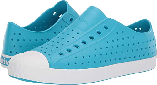 Native Shoes Unisex Jefferson Ultra Blue/Shell White 9 Women / 7 Men M US (White Adult Shoes Jane)