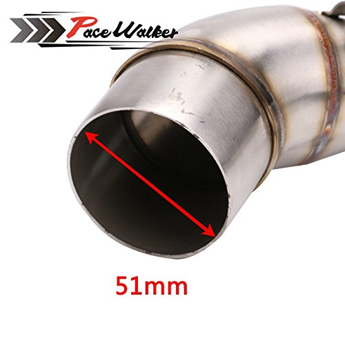 Dirt Bike Racing Motorbike Modified Scooter Muffler Motorcycle Middle Exhaust pipe For YAMAHA YZF R25 R30 R3 2015 2016