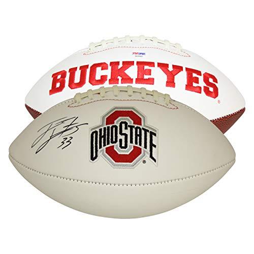 James Laurinitis Ohio State Buckeyes Autographed Signed White Panel Logo Football - PSA/DNA