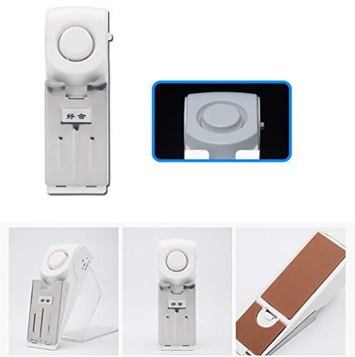 Maikouhai 1x Door Stop,New Door Stop Alarm Home Travel Wireless Security System Portable Alert Burglar