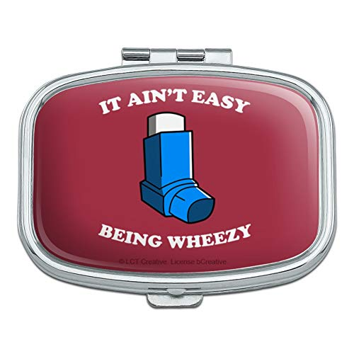 - It Ain't Easy Being Wheezy Asthma Inhaler Funny Humor Rectangle Pill Case Trinket Gift Box
