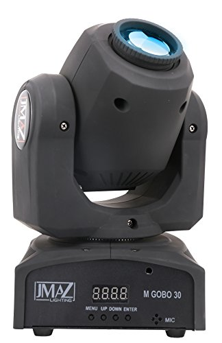 JMAZ Crazy Spot 30 Moving Head Light 30-Watt LED with 7 Gobo Patterns For Stage Light Disco DJ Church Wedding Party Show Live Concert (Led Concert)
