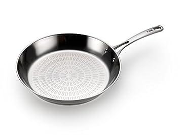 T-fal h80007 Performa X acero inoxidable lavavajillas Horno y sartén sartén utensilios de cocina, 30,48 cm, plata: Amazon.es: Hogar