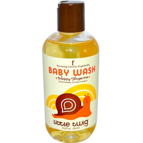Little Twig All Natural, Hypoallegenic Baby Wash with a Blend of Tangerine, Lemon, and Rosemary, Happy Tangerine Scent, 8.5 Ounce Bottle