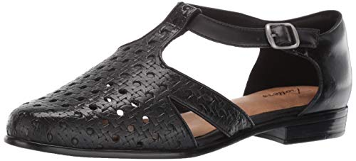 - Trotters Women's Leatha Open Weave Sandal, Black, 9.0 M US