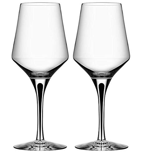 - Orrefors 6410002 Metropol White Wine Glass (Set of 2) Clear