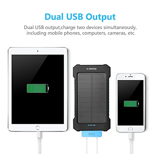 Solar Charger Solar Power Bank X Dneng 10000mah External Backup Battery Pack Solar Panel Charger