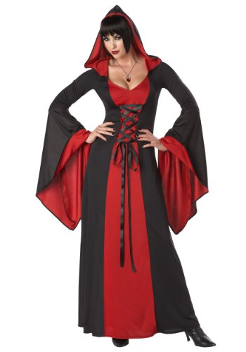 California Costumes Plus-Size Deluxe Hooded Robe Costume,Red/Black,3XL (Plus Size Witch Halloween Costumes)