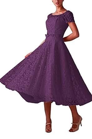 Orient bride women lace tea length wedding guest party for Amazon cheap wedding dresses