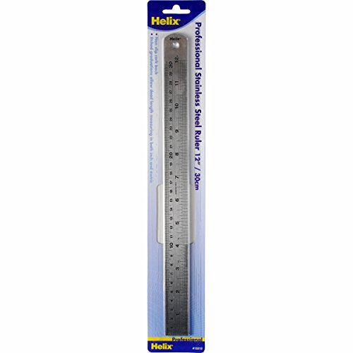 Helix Professional Stainless Steel Ruler, 12-Inch (13212)