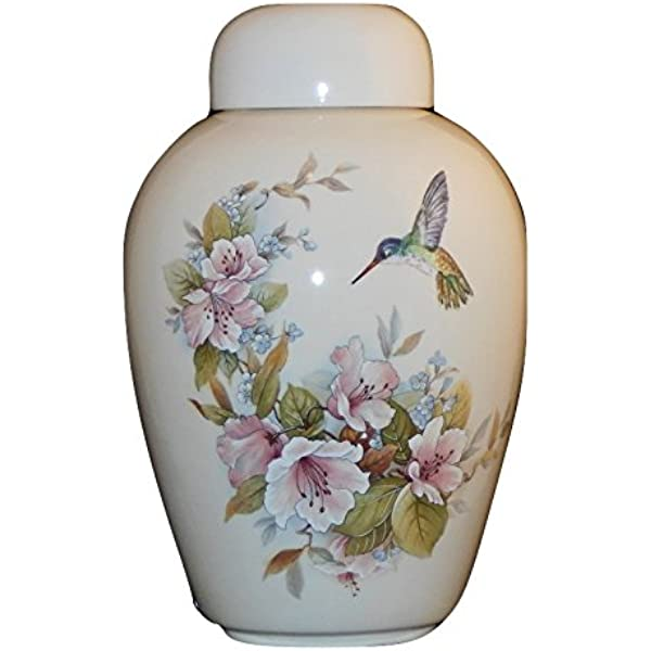 QMZDXH Memorials Cremation Urn for Adult Pet Handmade Ceramics Keepsake Ashes Coffins Urns Honour Your Loved One With White Urn for Ashes Home Or Cemetery