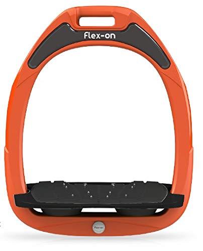 【Amazon.co.jp 限定】フレクソン(Flex-On) 鐙 ガンマセーフオン GAMME SAFE-ON Mixed ultra-grip フレームカラー: オレンジ フットベッドカラー: ブラック エラストマー: ブラック 09112