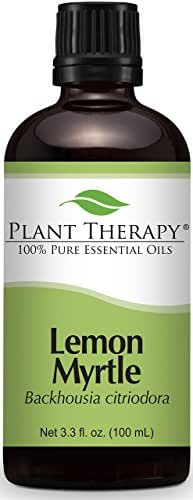 Plant Therapy Lemon Myrtle Essential Oil 100 mL (3.3 oz) 100% Pure, Undiluted, Therapeutic Grade